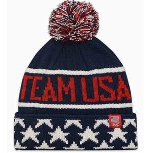 NWT Olympics Team USA Winter Knit Pom Pom Hat